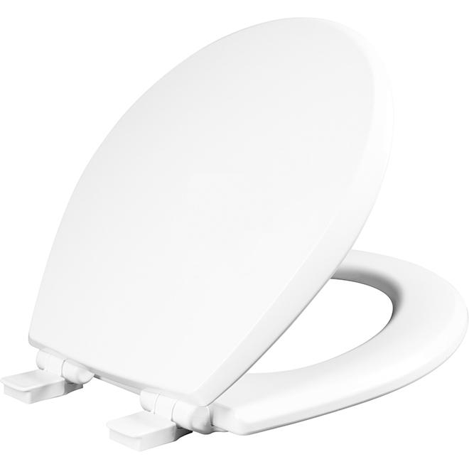 Siège de toilette Mayfair, régulier, plastique, blanc