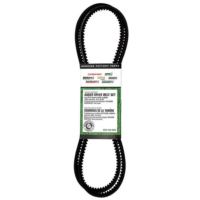 Auger Drive Belt for Series 400/500/600 Snowblowers