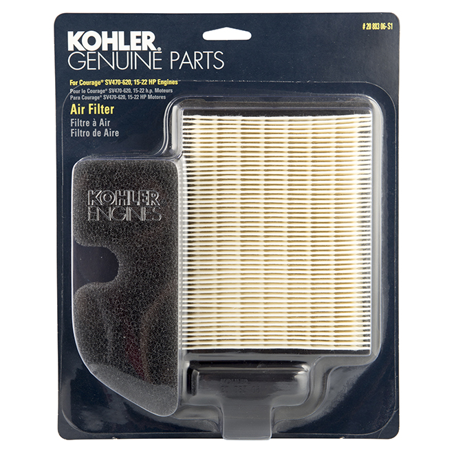 4-Cycle Engine Air Filter/Pre-Cleaner - 15 to 22 HP