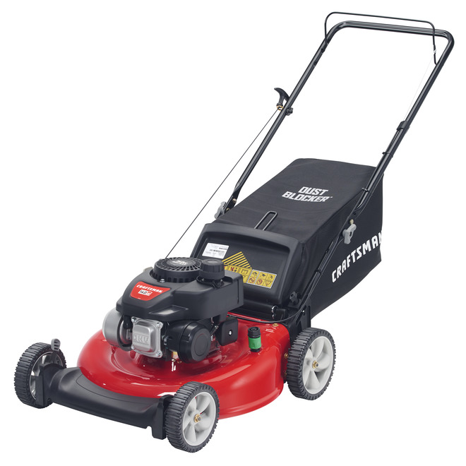 Craftsman Gas Push Lawn Mower 21 In 140 Cc Red 11a A1sd593 Rona