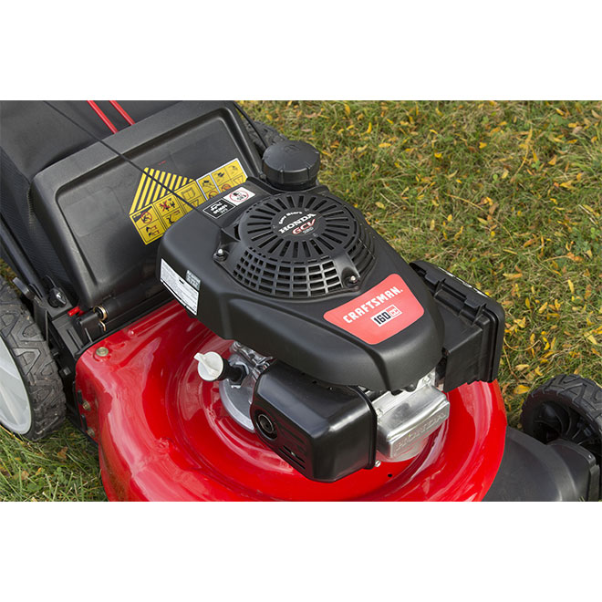 Gas Push Mower - 2-in-1 - 160 cc - Red