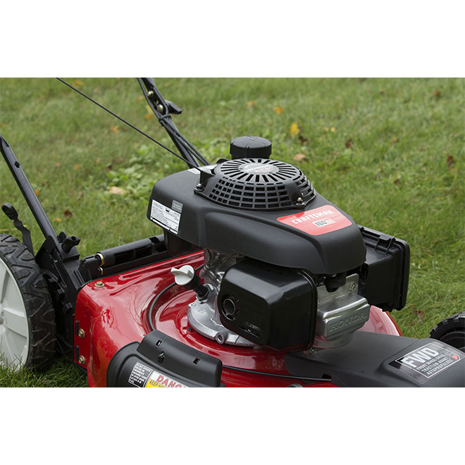 Gas Self-Propelled Mower - 160 cc - Red and Black