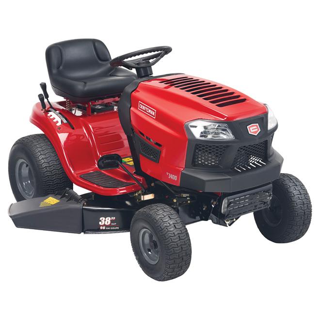 """Tracteur de jardin à essence, 38"""", 439cm³, rouge et noir"""