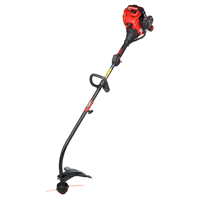 Craftsman Gas String Trimmer - 25 cc - Curved Shaft - 17-in - Red