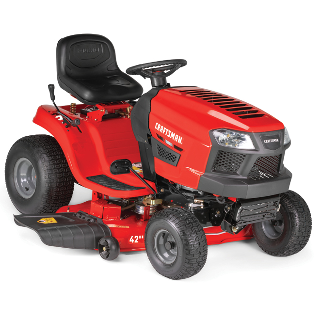 """Craftsman Lawn Tractor - 439 cc - 42"""" - Steel - Red"""