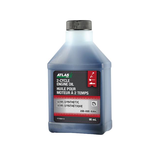 Huile à moteur 2 temps Atlas semi-synthétique, 95 ml