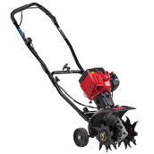 Rotoculteur Craftsman à essence, 25 cc, 6 à 9 po, plastique, rouge/noir