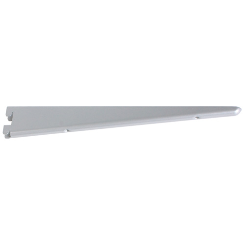 "Steel Double Shelf Bracket - 9"" - Titanium"