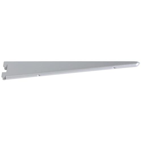 "Steel Double Shelf Bracket - 12 1/2"" - Titanium"