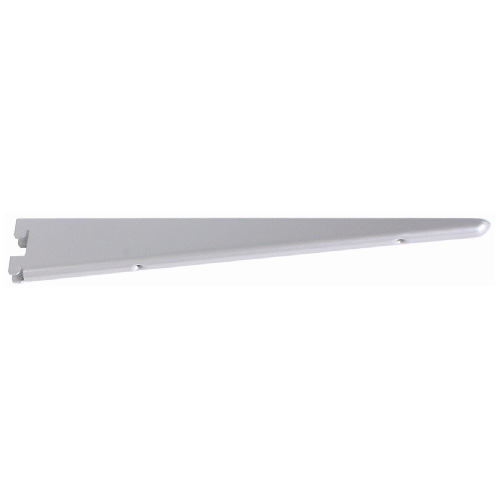 "Steel Double Shelf Bracket - 18 1/2"" - Titanium"