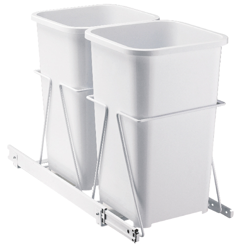 Under-Cabinet Pull-Out Recycling Bin System
