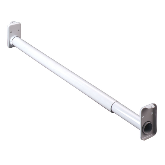 "Extendable Closet Rod 30"" - 48"" - White"