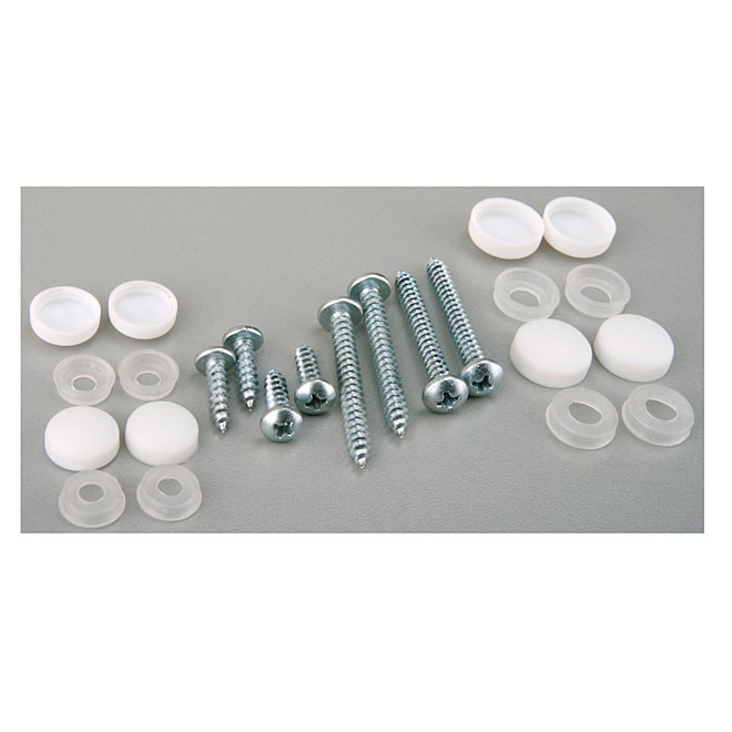 Screw and Screw Cap - White - 16 Units
