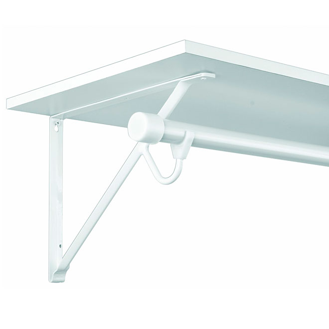 "Shelf and Rod Bracket - 16"" - White"