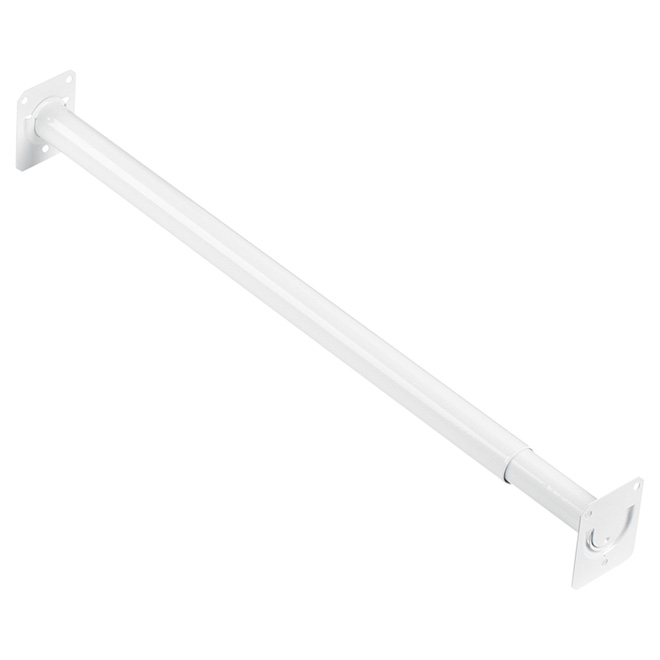 "Adjustable Closet Rod 18""-30"" - White"
