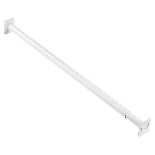 "Adjustable Closet Rod 30""-48""  - White"