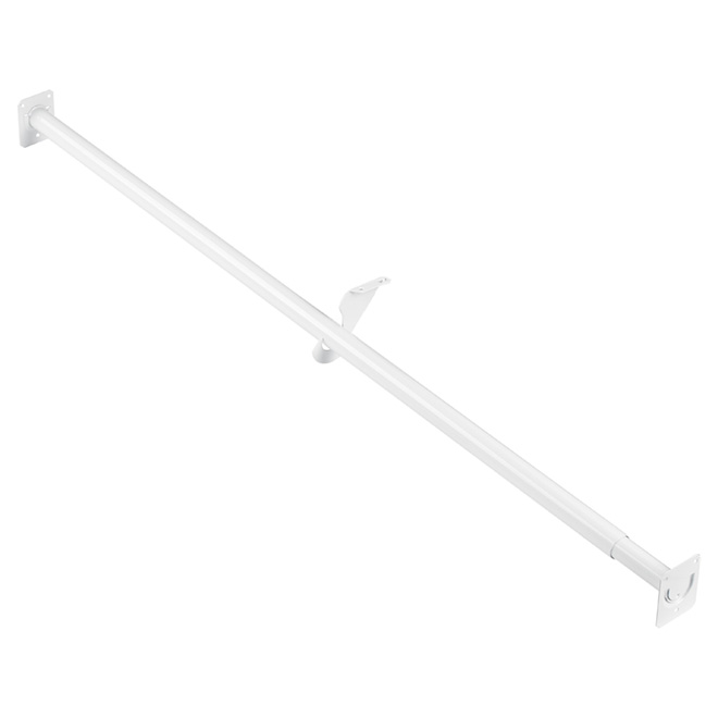 "Adjustable Closet Rod 48""-72"" - White"