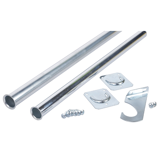 "Adjustable Closet Rod 48""-72"" - Zinc"