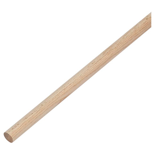 "Heavy-Duty Closet Pole - Wood - 96"" - Oak"