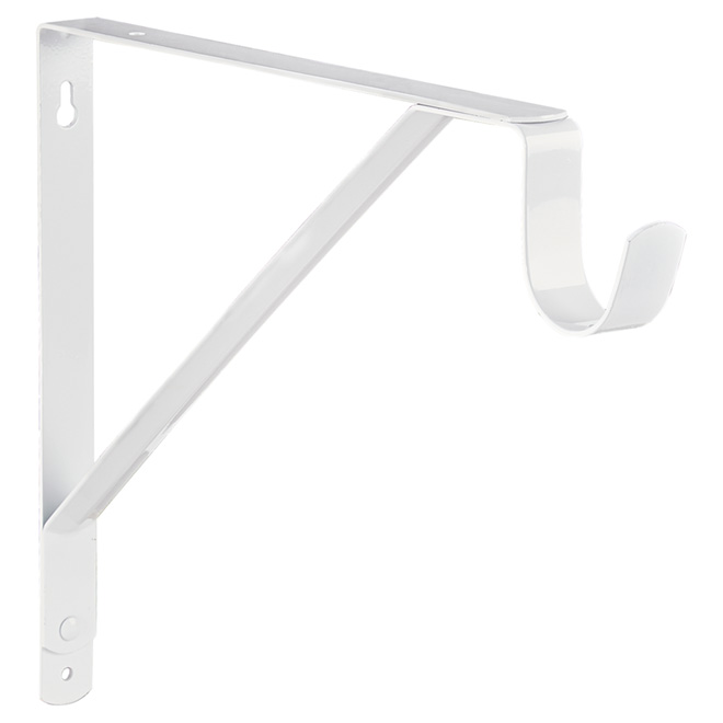 """Shelf and Rod Support - White - 11"""""""