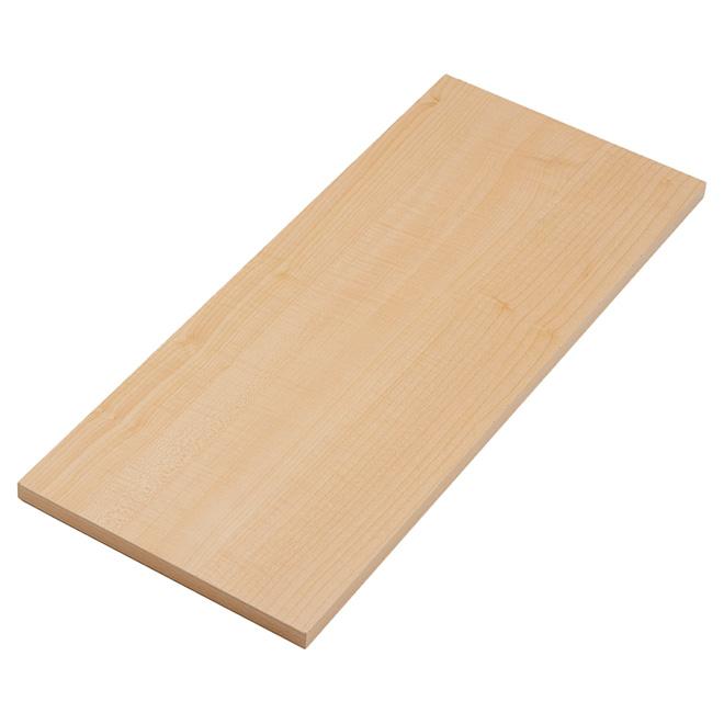 "Melamine Decorative Shelf - Maple - 10"" x 24"""