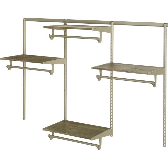 Closet Organizer - 6' - 4 Shelves - Driftwood