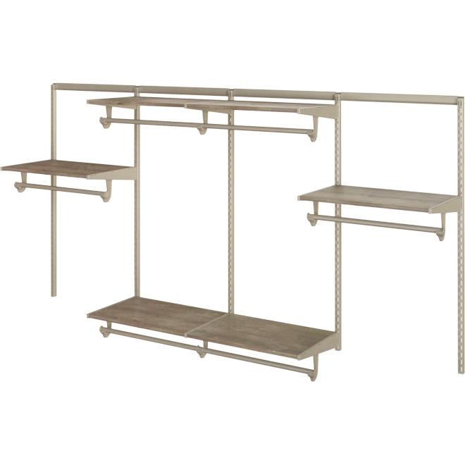 Closet Organizer - 8' - 6 Shelves - Driftwood