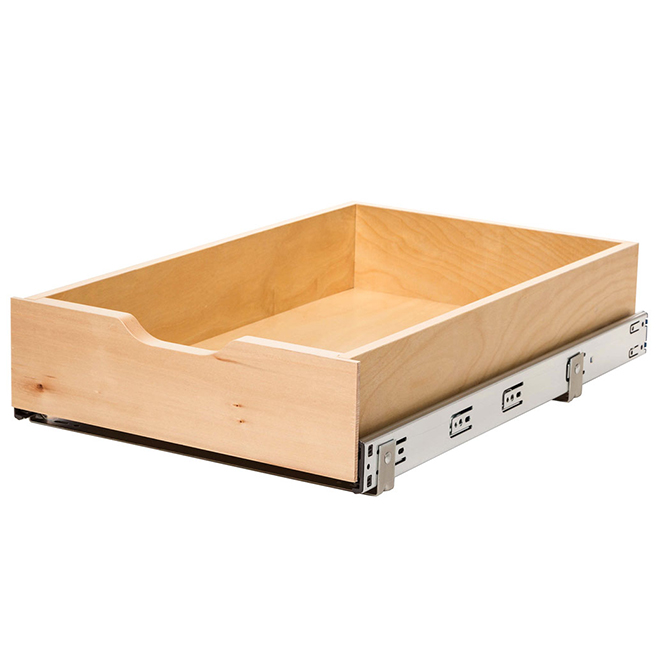"""Real Solutions Pull-Out Basket - Wood - 14"""" - Maple"""