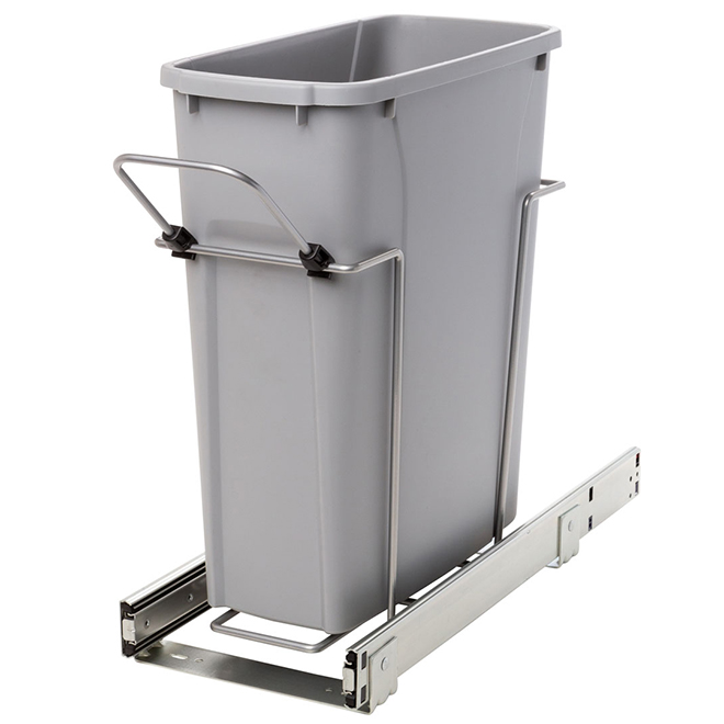 Real Solutions Pull-Out Waste Bin - Simple - 19 L - Platinum