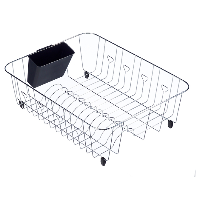 Real Solutions Dish Rack - 13.5-in x 17.5-in - Steel - Chrome