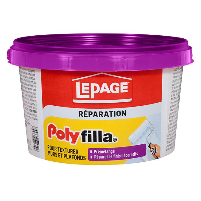Composé préparation des murs Polyfilla LePage, 3 l