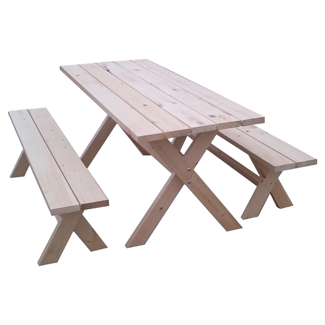 Super Picnic Table And Benches 585 Rona Gmtry Best Dining Table And Chair Ideas Images Gmtryco