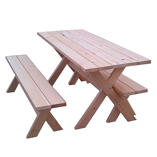Picnic Table and Benches -