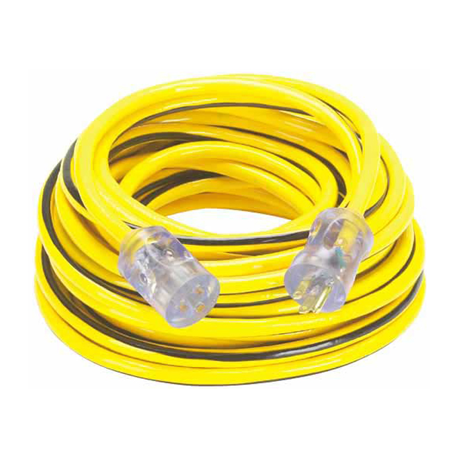 Single Outlet Outdoor Extension Cord, 49', 15 A