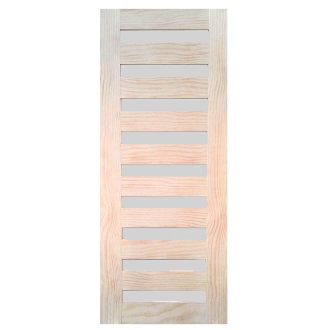 "9-Lite Pine French Door 32"" x 80"" - Natural"