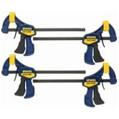 "Irwin Quick-Grip Mini Clamps - Set of 4 - 6"" - Resin"
