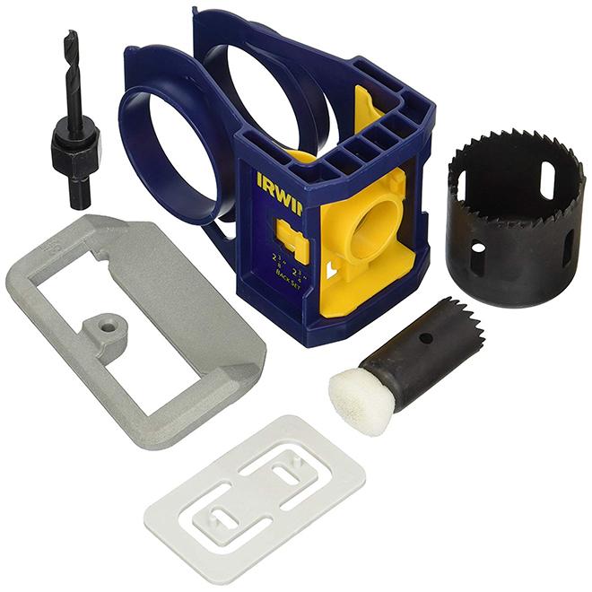 Steel Door Lock Installation Kit Blue