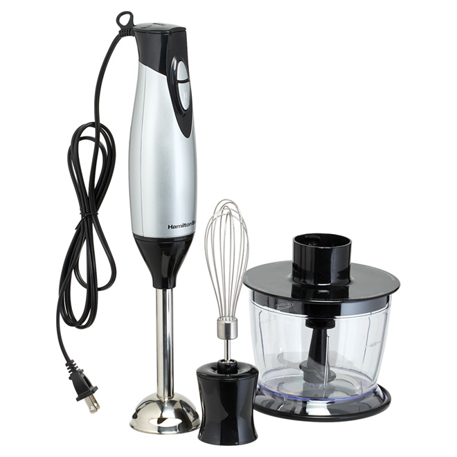 2-Speed Immersion Blender - 3-in-1 - 3 Pieces - Silver/Black