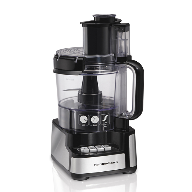 Food Processor - Stack & Snap - 12 Cup - Black