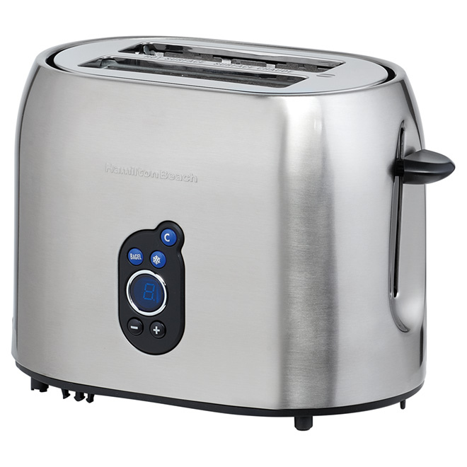 Digital 2-Slice Toaster with Bagel Setting - Stainless Steel