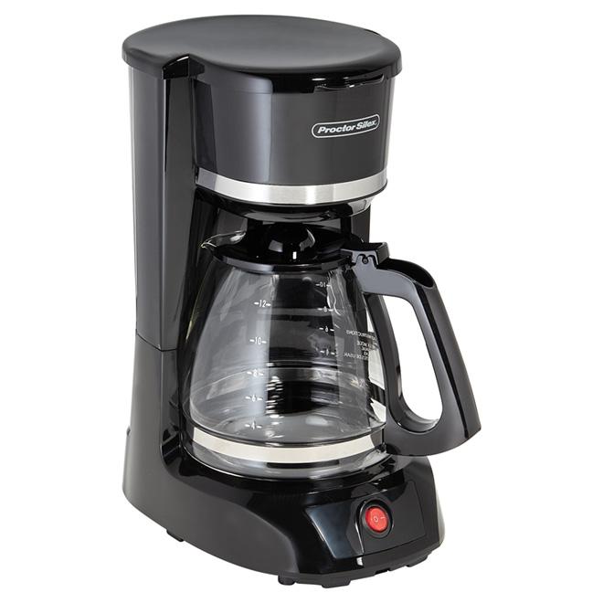 Cafetière, panier filtre/carafe, 12 tasses