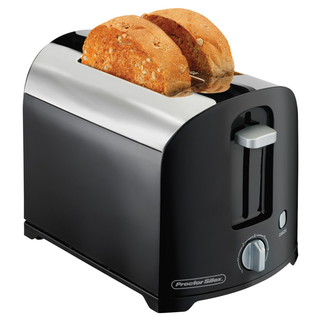2-Slice Wide-Slot Toaster with Toast Boost - Black