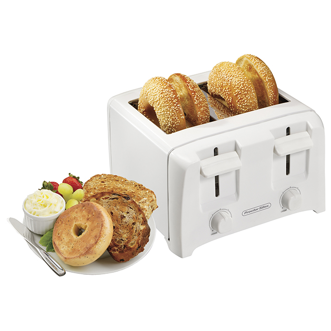 4-Slice Toaster - White
