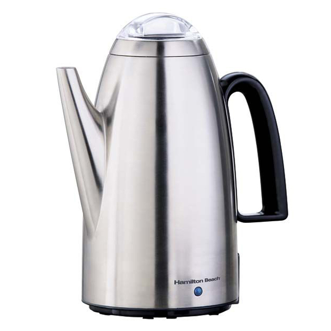 Coffee Percolator - Chrome - 12 Cups