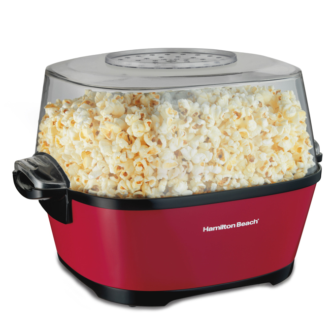 Hot Oil Popcorn Popper - Mettalic Red - 24 Cups