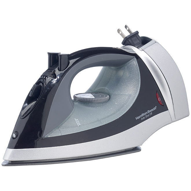 Non-Stick Iron with Retractable Cord Black Plastic Stainless Steel Energy Star Compliant