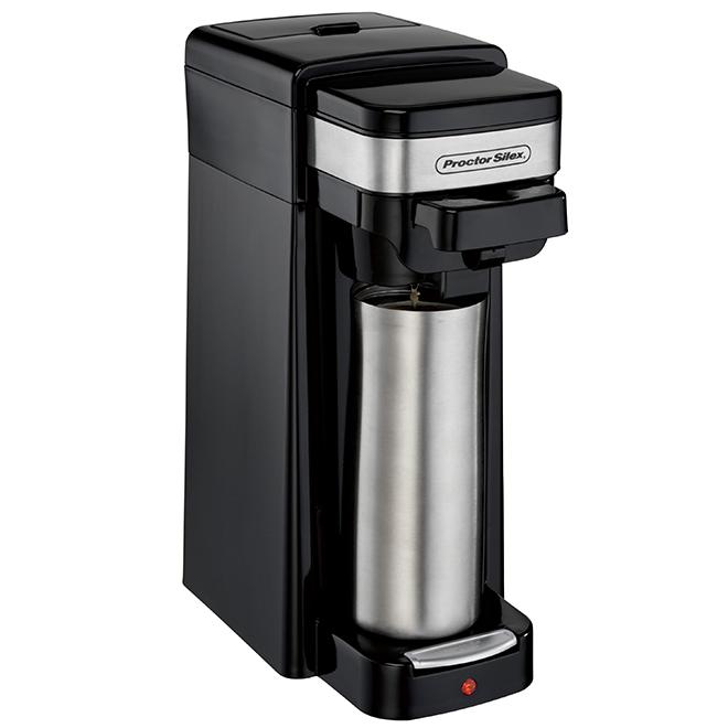 Proctor Silex 2-Way Coffee Maker - 14-oz. - Plastic - Black