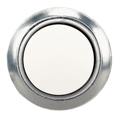 Electric Door Chime Button Heath Zenith - .75-in - Silver/Pearl