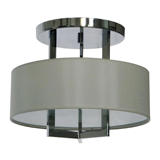 "Bobbi Semi-Flushmount Light with Shade - Chrome - 15"""