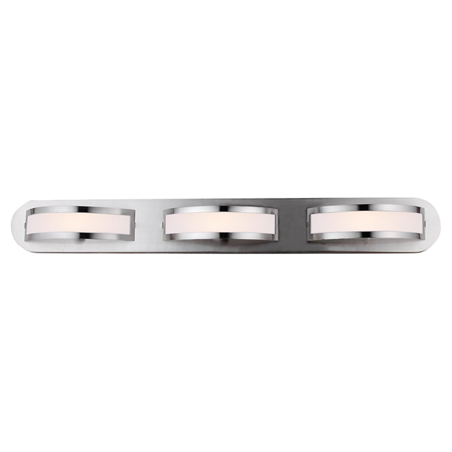 3-Light Wall Sconce - Satin Steel